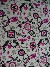 crepe-bílá,fialový vzoreček