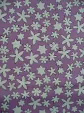 Bavlna-růžová s hvězdičkami