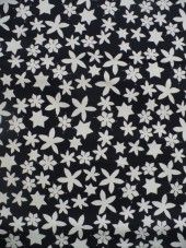 Bavlna-černá s hvězdičkami