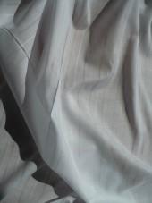 Batist/bílá,jemný proužek
