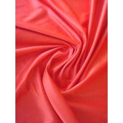 Bavlna - hedvábný satén  červená