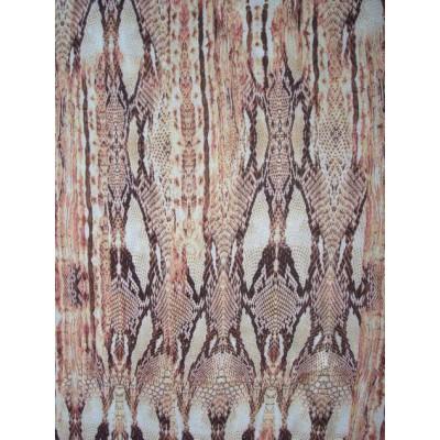 šatovka - crepe - hadí kůže v hnědožluté