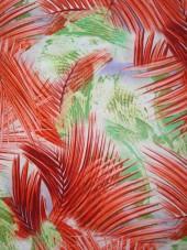 šatovka  - palmové listy - oranžovo/zelená