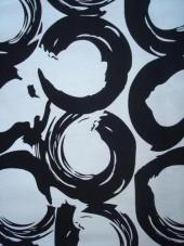 Bavlna - gabarden - strech - černobílý vzor