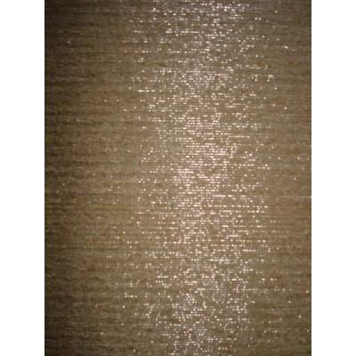 hedvabí buretové-béžové se stříbrnou nitkou