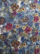 šifon-květy,modrá